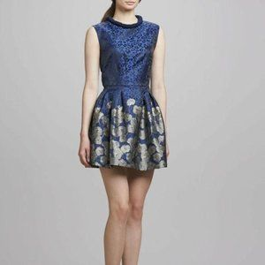 Badgley Mischka Printed Cocktail Fit Flare Dress 6